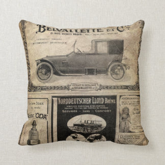 Vintage Newspaper Custom Gift Throw Pillow