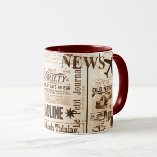 Vintage Newspaper Mug