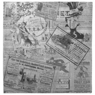 Vintage newspaper napkin