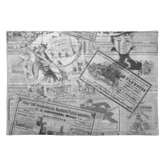 Vintage newspaper placemat