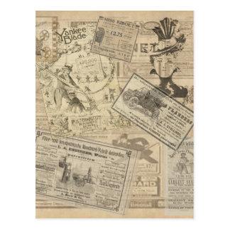 Vintage newspaper postcard