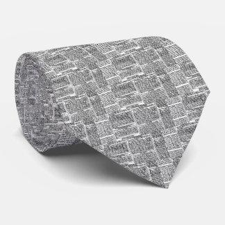 Vintage Newspaper Print Tie