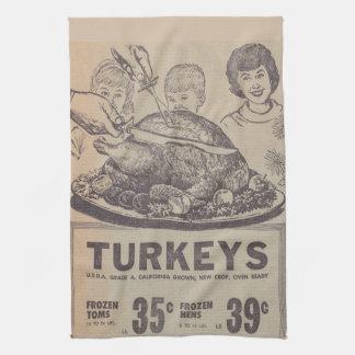 Vintage Newspaper Thanksgiving Kitchen Towel