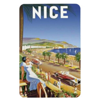 Vintage Nice, France - Rectangular Photo Magnet