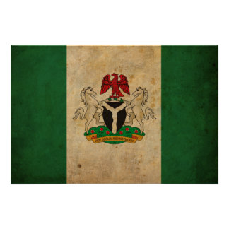 Vintage Nigeria Flag Poster