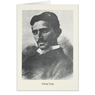 Vintage Nikola Tesla Portrait Note Card