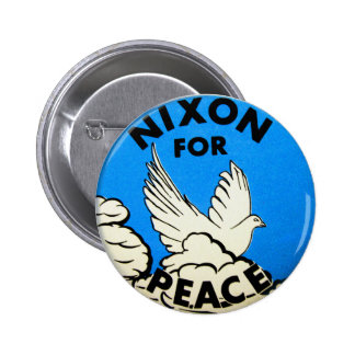 Vintage Nixon For Peace Button
