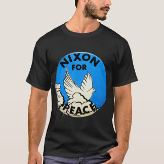 Vintage Nixon For Peace Button T-Shirt