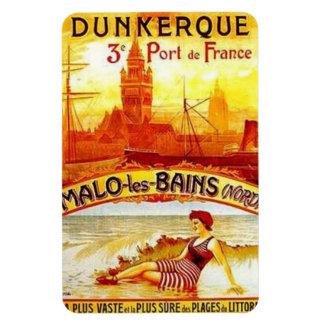 Vintage Nord-Pas-de-Calais, Dunkerque , France - Magnet