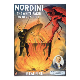 Vintage Nordini Magician Advertising Poster 13 Cm X 18 Cm Invitation Card