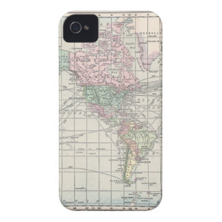 Vintage north america map iPhone 4 covers