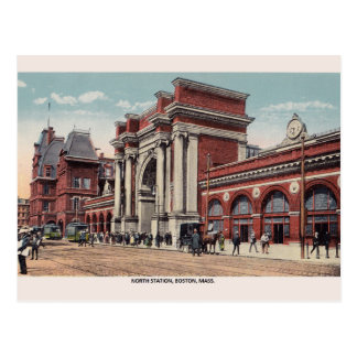 Vintage North Station Boston Post Card