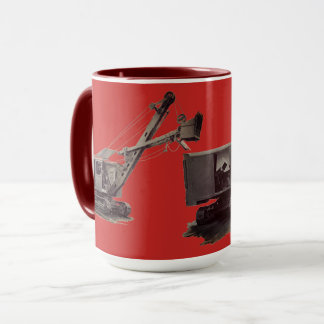 Vintage Northwest Crane Heavy Equipment Shovel Mug