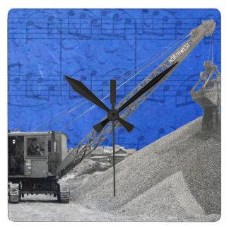 Vintage Northwest Crane Operator Friction Rig Square Wall Clock