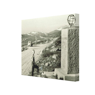 Vintage Norway Crossing the Arctic Circle Stretched Canvas Prints