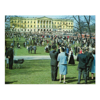 Vintage Norway,  Oslo, 12 May celebrations Postcard