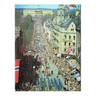 Vintage Norway,  Oslo, Parade Postcard