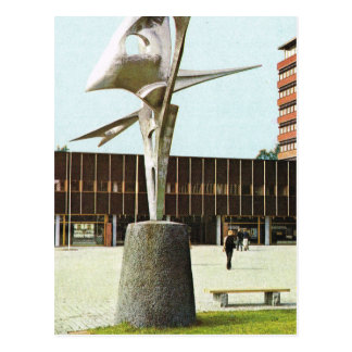 Vintage Norway,  Oslo, Sculpture at New University Postcard