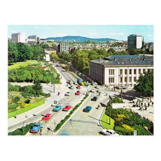 Vintage Norway, Oslo Town  Centre 1960 Postcard