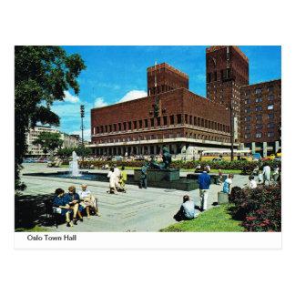 Vintage Norway,  Oslo Town Hall Postcard