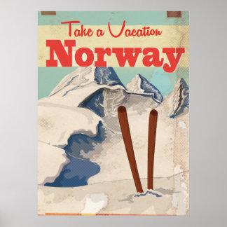 Vintage Norway Travel Poster