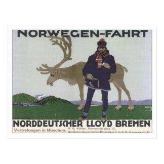 Vintage Norwegen Fahrt Postcard