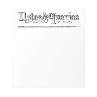 Vintage Notes And Queries Typograph