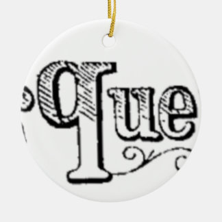 Vintage Notes And Queries Typograph Ceramic Ornament