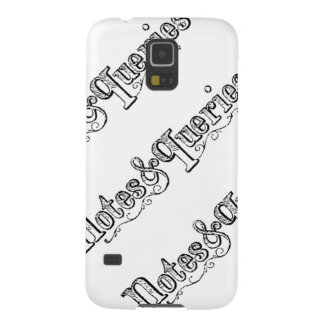 Vintage Notes And Queries Typograph Galaxy S5 Cases