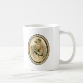 Vintage Nothing is More Beautiful Bride Framed Mug Basic White Mug