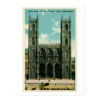 Vintage Notre Dame Church Montreal Post Card