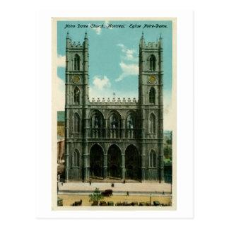 Vintage Notre Dame Church Montreal Postcard