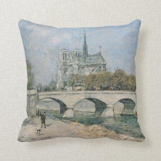 Vintage Notre Dame de Paris Cushion