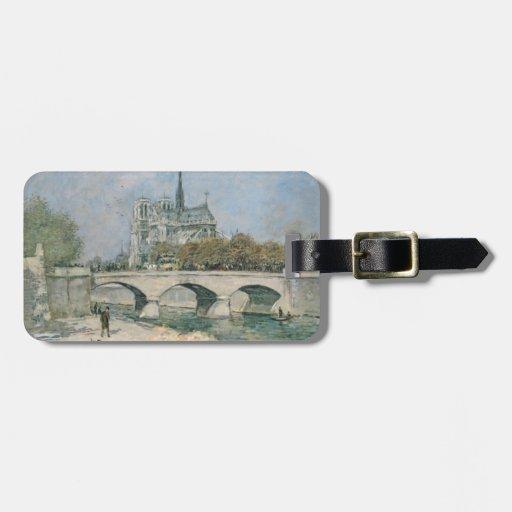 Vintage Notre Dame de Paris Tag For Luggage