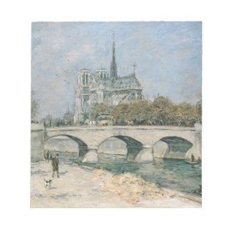Vintage Notre Dame de Paris Scratch Pad