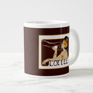 Vintage Nouveau Coffee Advertisement Mug