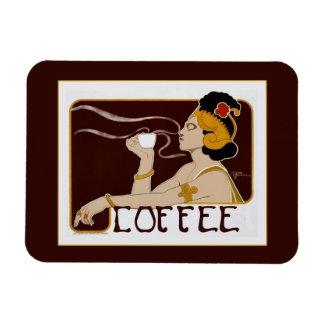Vintage Nouveau Coffee Magnet