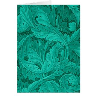 Vintage Nouvequ Acanthus Leaves Morris 1875 Card