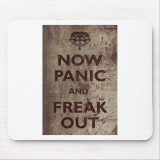Vintage Now Panic & Freak Out Mouse Pad