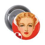 Vintage Nurse Buttons