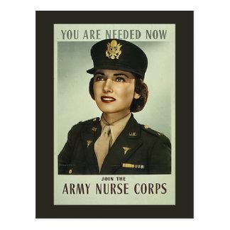 Vintage Nurse Corps Postcard