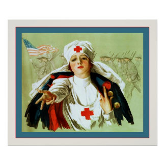 Vintage Nurse Poster ~ World War 1