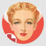 Vintage Nurse Round Stickers