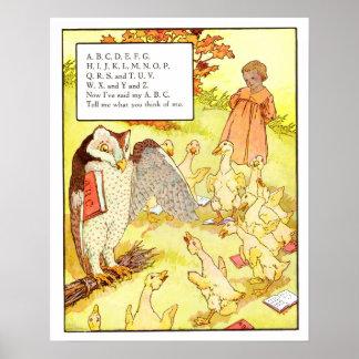 Vintage Nursery Print- ABC Poster