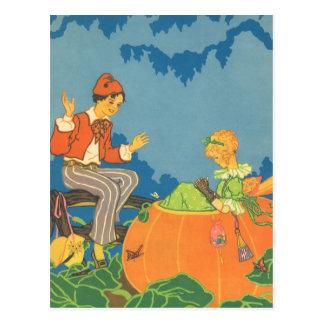 Vintage Nursery Rhyme, Peter Peter Pumpkin Eater Postcard