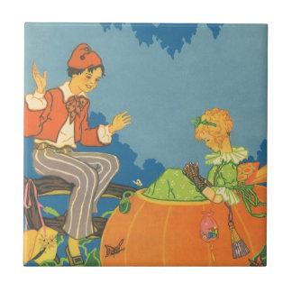Vintage Nursery Rhyme, Peter Peter Pumpkin Eater Ceramic Tiles