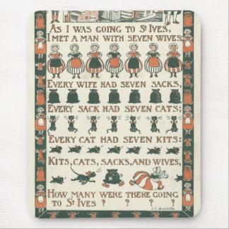 Vintage Nursery Rhyme St. Ives Mouse Pad Mousepads