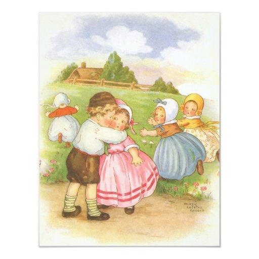 vintage nursery rhymes baby shower invitation hot girls wallpaper. Black Bedroom Furniture Sets. Home Design Ideas