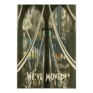 Vintage NYC Architecture Bridge, Change of Address 9 Cm X 13 Cm Invitation Card