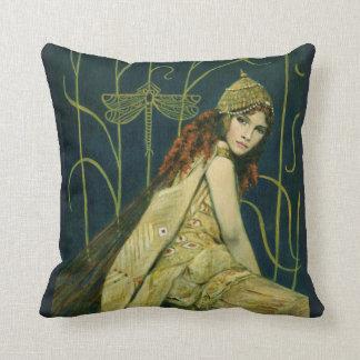 Vintage Nymph Throw Cushion